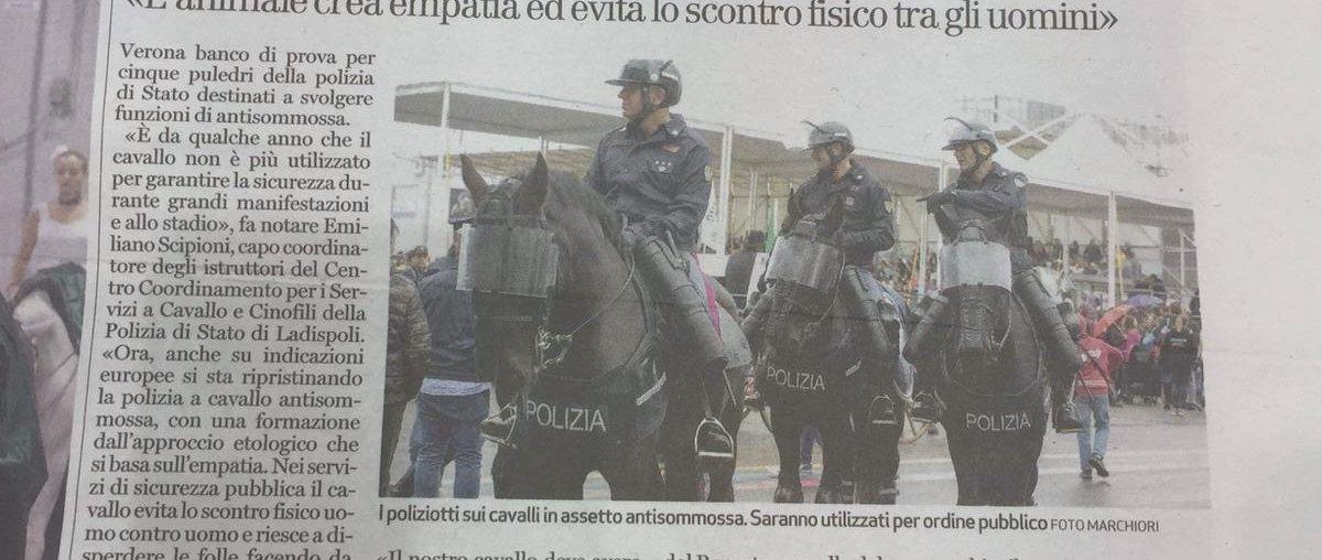 La polizia torna in sella per domare le sommosse